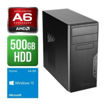 Antec VSK3000B, AMD AM4 A6 X2 9500, 4GB, 500GB, Wireless, KB & Mouse